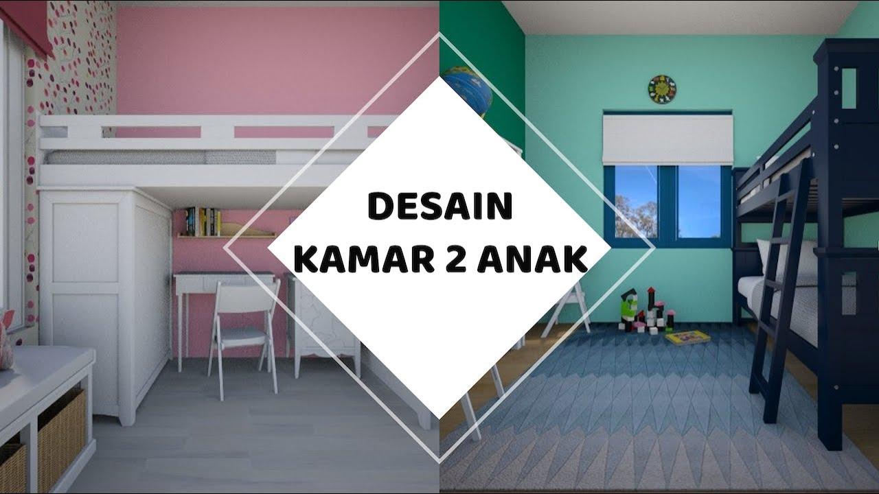 Desain Kamar Minimalis 2 Anak ukuran 3,5 m x 3,5 m - YouTube