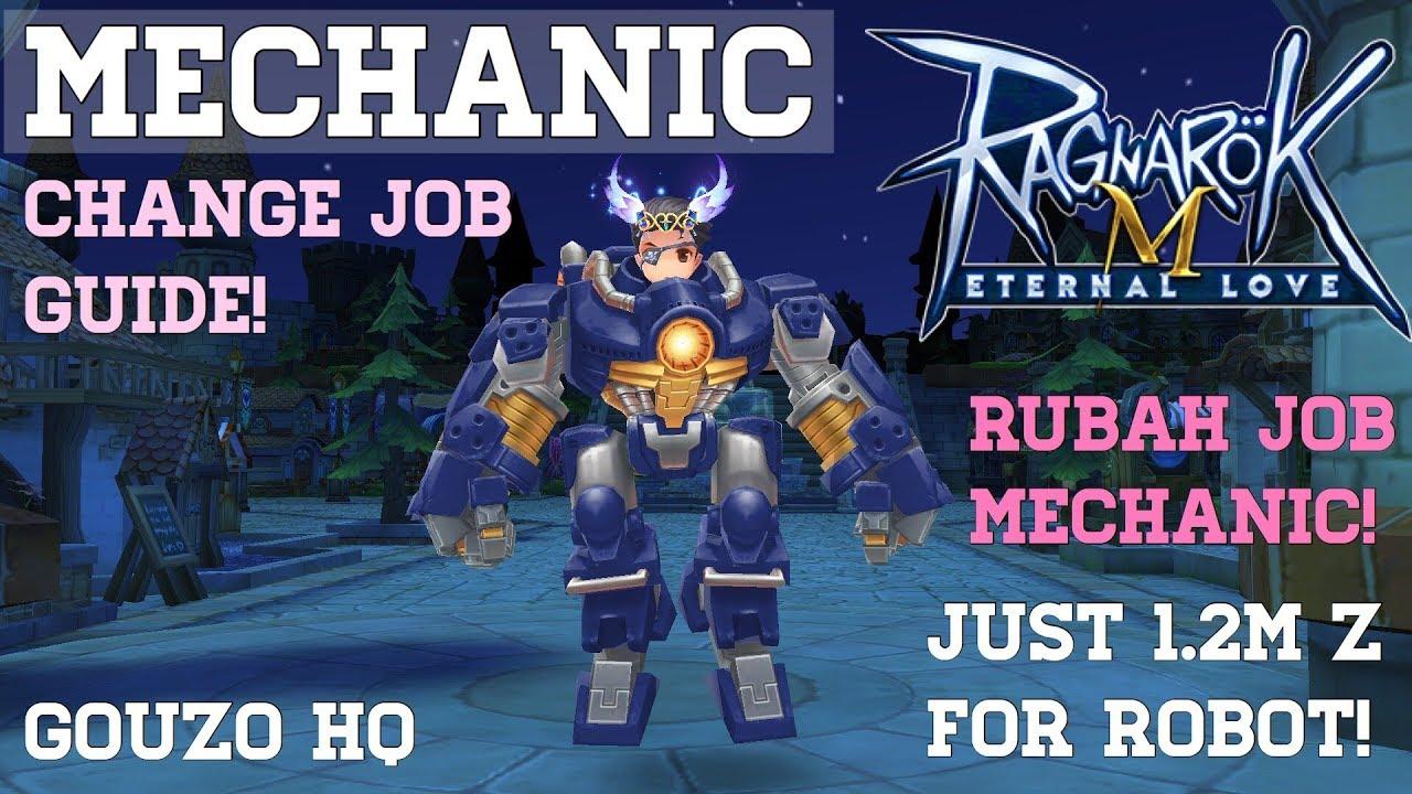 RAGNAROK M : MECHANIC JOB CHANGE GUIDE + MADOGEAR (ROBOT) ONLY 1 2 M?  CHANGE COLOR TIPS!