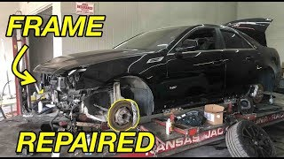 Fixing the FRAME DAMAGE on my CTS-V.