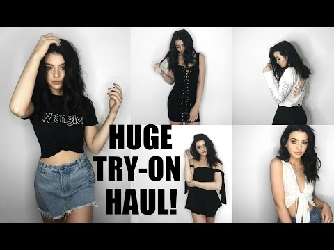 HUGE FASHION TRY-ON HAUL 2017!