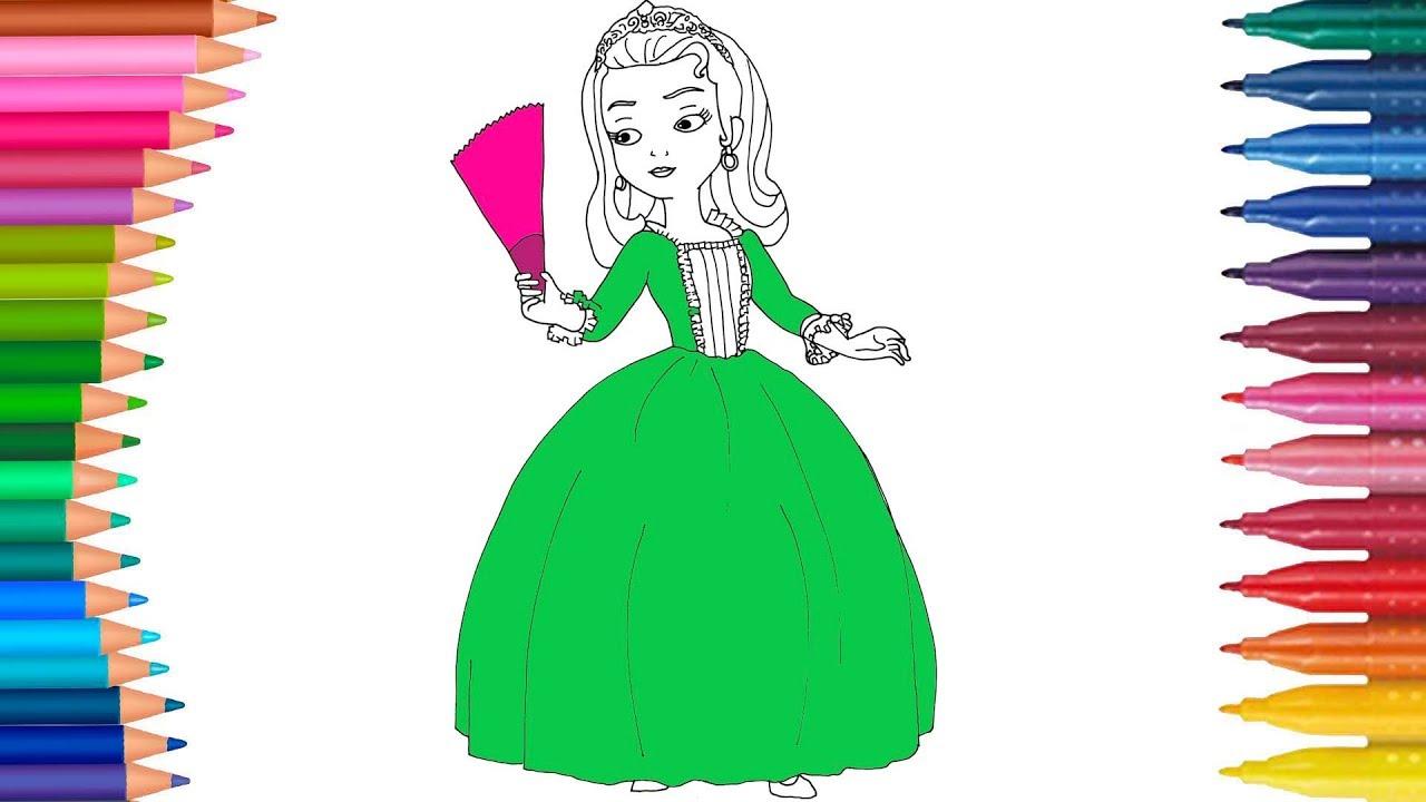 La Princesa Sofia Amber juego de pintar con Mariposita cancion ...