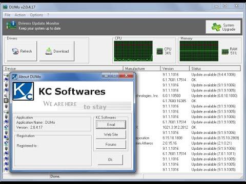DUMo Pro 2.18 (Driver Updater) - Keys I Lifetime (Save $14.99)