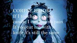 Repeat youtube video The Corpse Bride tears to shed lyrics