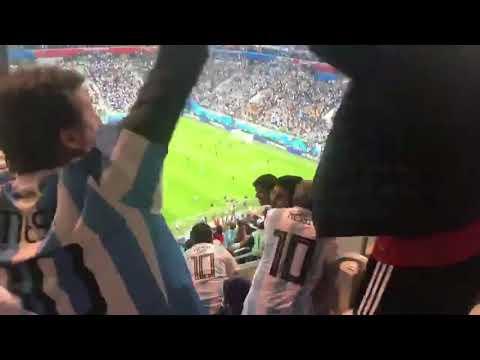 GOL De MARCOS ROJO DESDE LA TRIBUNA | ARGENTINA 2 - NIGERIA 1 | RUSIA 2018