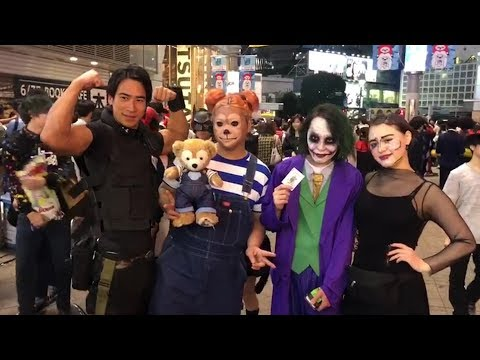 Halloween in Japan's Shibuya