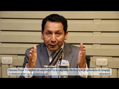 Clemente Flores: Yo también me sorprendí al ver al congresista Dávila al lado ...