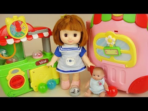 Baby doll carrier house toys and surprise...