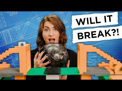 LEGO Bridge Challenge: WILL IT BREAK?! - REBRICKULOUS