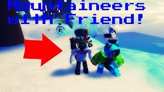 PLAYING THE ROBLOX CHRISTMAS EVENT WITH MY FRIEND!