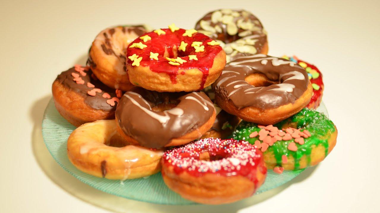 78 donuts selber machen schnell und einfach kanal elf rezepte youtube. Black Bedroom Furniture Sets. Home Design Ideas