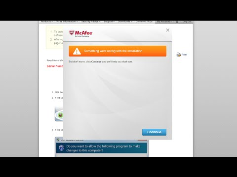 McAfee Something went wrong with the installation [Solved