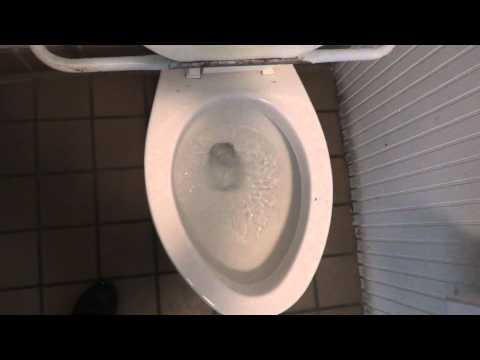 Bathroom Tour: American Standard Toilet with interesting seat Natural Bridge Park Virginia