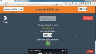 Get Students to Quizizz Via Google Classroom