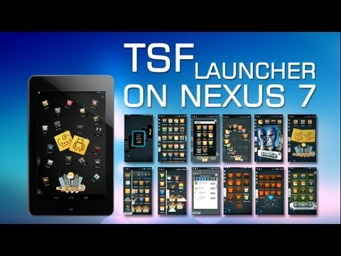 TSF Launcher for Android on Google Nexus 7 | Demo