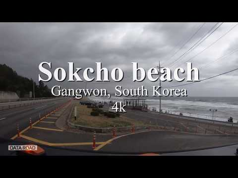 2019 Sokcho beach, Gangwon, South Korea (4k) | Travel, Driving x Hummer H2 | 강원도 속초바다 여행 x 험머H2