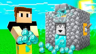 I Made A DIAMOND GENERATOR To Make UNLIMITED Diamonds! (Minecraft)