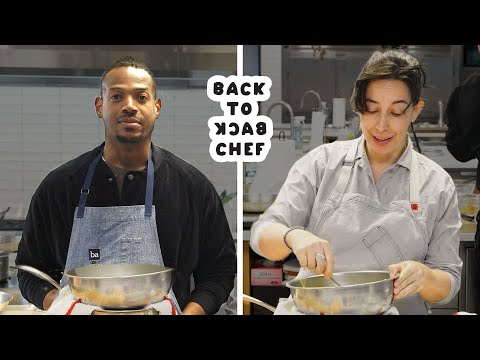 Marlon Wayans Tries to Keep Up With a Professional Chef | Back-to-Back Chef | Bon Apptit