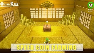 Super Mario Odyssey coin farming - Fast coin grinding options