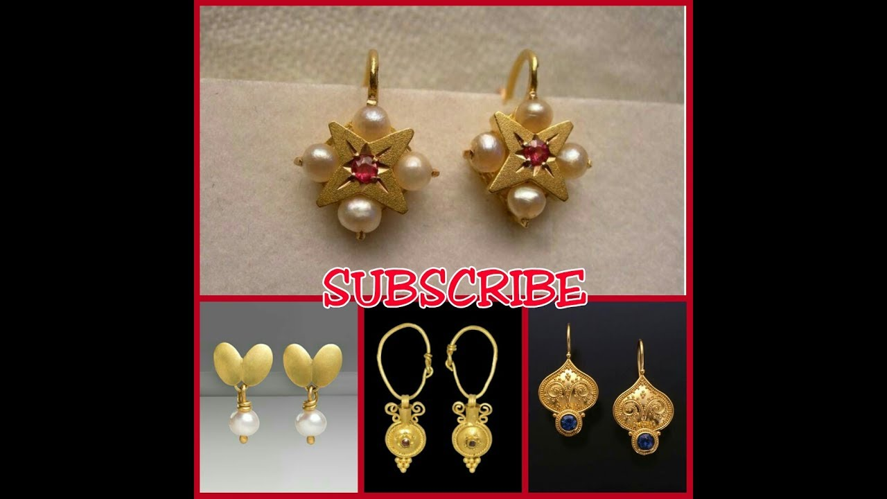Small Size Gold Earrings Designs - YouTube
