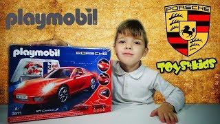 Παιχνίδια Αυτοκίνητο Playmobil Porsche 911 Carrera S Unboxing Βίντεο Διασκέδαση για παιδιά