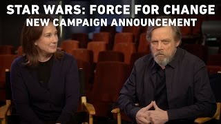 Repeat youtube video Star Wars: Force for Change - Mark Hamill and Kathleen Kennedy Announce New Campaign