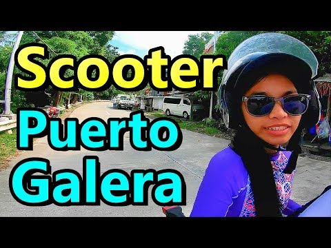 Renting Scooter Puerto Galera Philippines