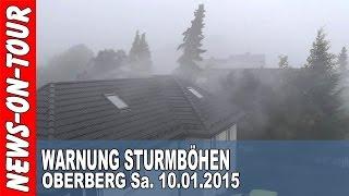 Oberbergischer Kreis Sa. 10.01.2015 | Amtliche WARNUNG vor STURMBÖEN bis 100 km/h