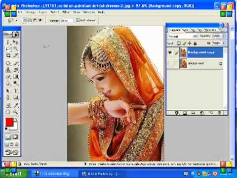How to use Adobe Photoshop - 5. How to Cut a picture from a photo ...