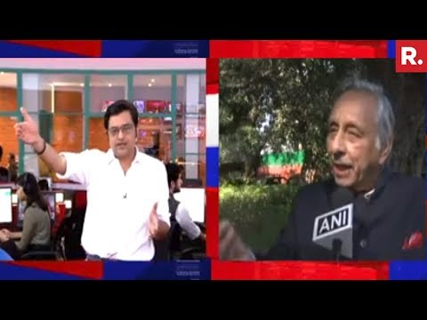 Arnab Goswami Reacts On Mani Shankar Aiyar's 'Neech Aadmi' Comment