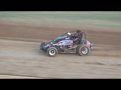 Michigan Traditional Sprints Heat Race #1 at Crystal Motor Speedway, Michigan, on 09-16-2017!