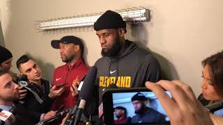 LeBron James loves the Cavs' chances and is thinking of retiring, just not yet