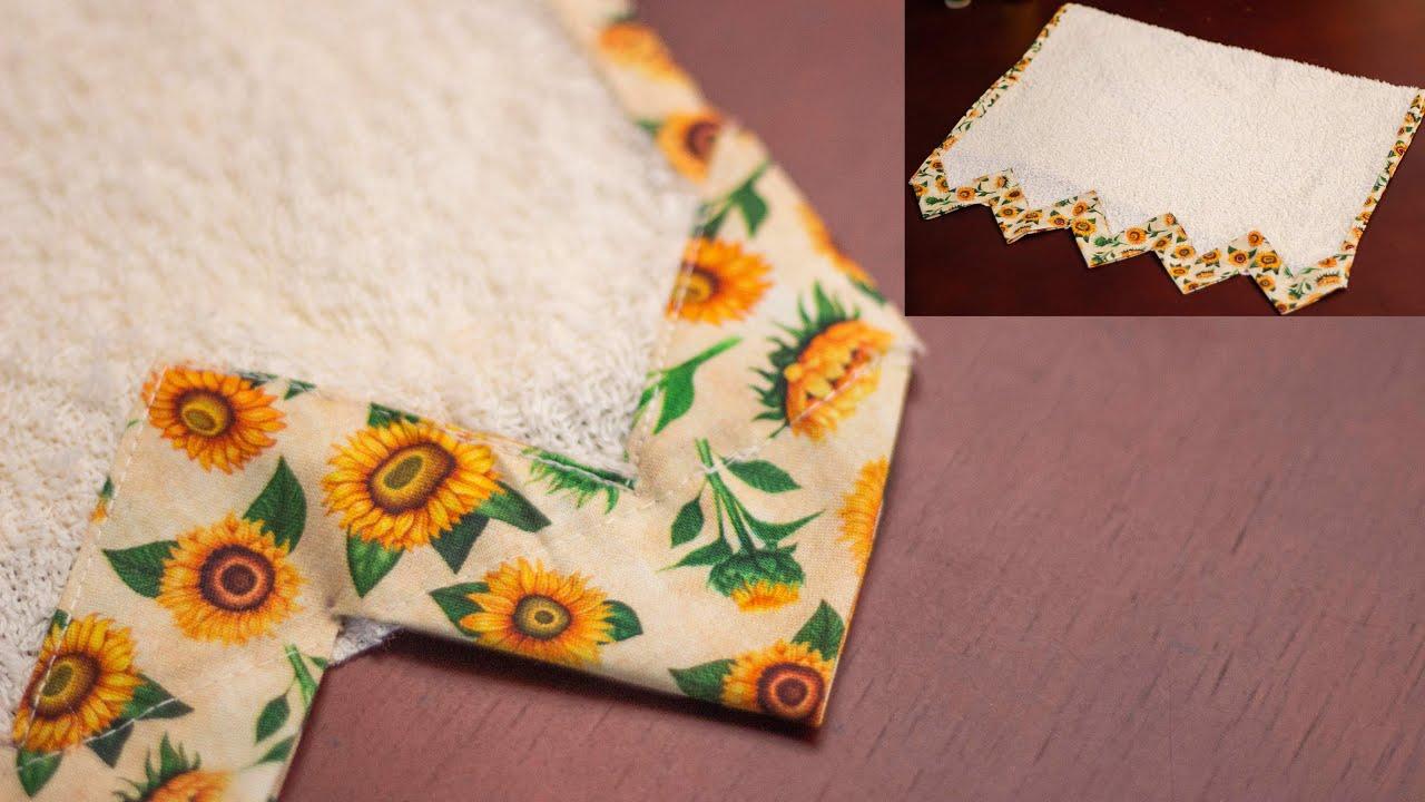 Como decorar toallas paso a paso con Luzkita/fácil de hacer/Idea de negocio o para regalar o para ti