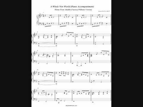 A Whole New World Piano Accompaniment  Aladdin Vanessa Williams Version  Aldy Santos