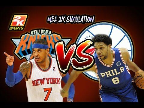 New York Knicks vs Philadelphia 76ers - Full game | March 3, 2017 | 2016-17 | NBA 2K17