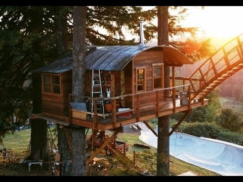 This Pro Skateboarder Built The Ultimate Treehouse And Skatepar