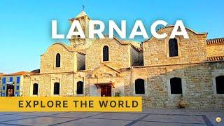 Walking in Larnaca 4K Cyprus