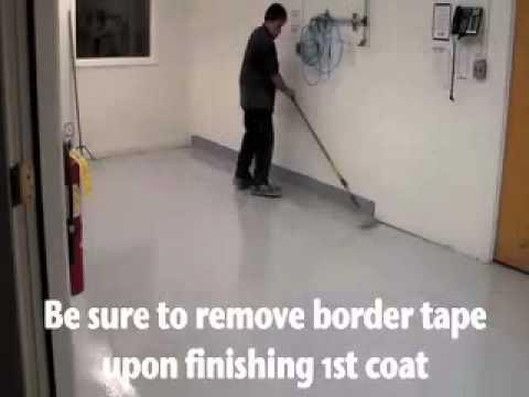 How to epoxy coat a concrete floor
