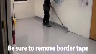 How to epoxy coat a concrete floor