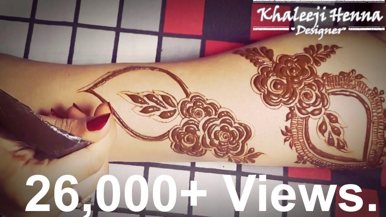 Khaleeji Henna Designs Tattoo: Dubai Saloon Henna Design For Hands 2017