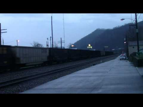 CSX Coal Train Westbound At Marmet, West Virginia