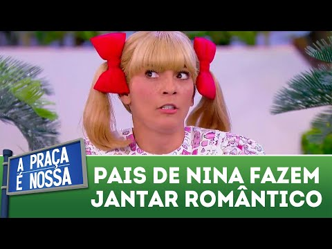 Pais de Nina fazem jantar romântico | A Praça é Nossa (19/04/18)