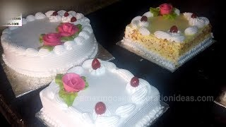 SIX Cakes Decoration In Small Bakery | Fast Motion Video | Big Food Zone