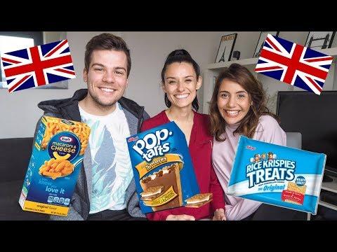 British People Try American Snacks W/ Joel & Lia