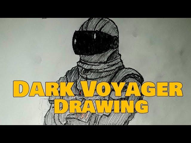 FORTNITE: DARK VOYAGER DRAWING!  Pencil art 