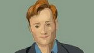 How to draw Conan O\' Brien