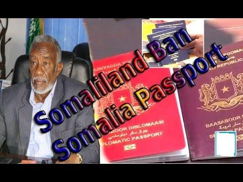 Somaliland Ban Somalia Passport ,,, Somaliland Oo Madnuucday Baasborka Somaliya