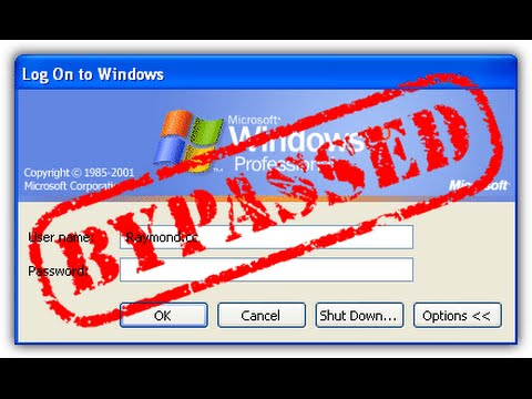 How To Bypass The Windows XP Password - Part 1
