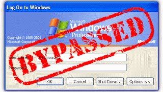 How to bypass the windows xp Password