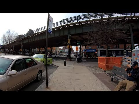 ⁴ᴷ⁶⁰ Walking NYC : Astoria Boulevard from Brooklyn Queens Expressway to East River (April 7, 2019)