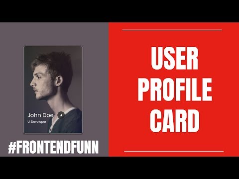 Profile Card Animation Tutorial - web development thumbnail